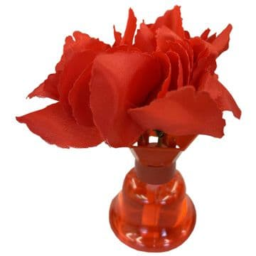 RED FLOWER HOME AIR FRESHENER kitchen bathroom bedroom fresh air scent caravan